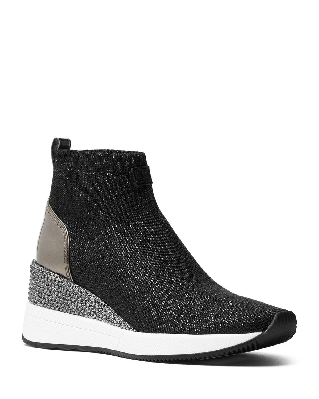 e6d4e52c4ef5 MICHAEL Michael Kors Skyler Knit Sneaker Booties