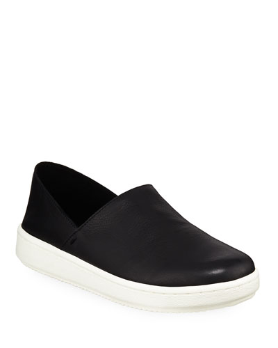 Panda 2 Washed Leather Slip-On Sneakers