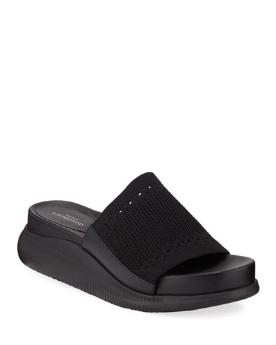 Zerogrand Stitchlite Platform Slide Sandals