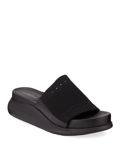 Cole Haan Zerogrand Stitchlite Platform Slide Sandals abebf6266a577