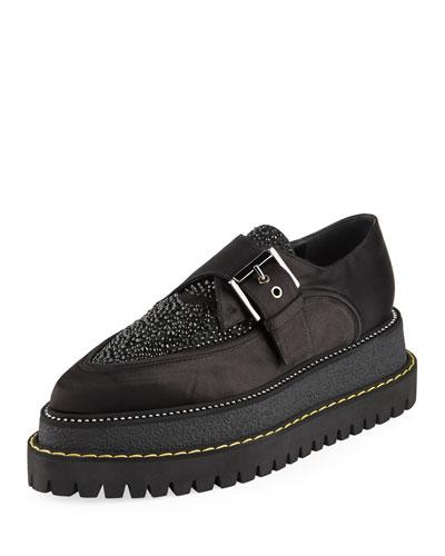 Platform Monk-Strap Loafers
