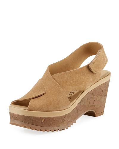 Fayre Platform Cork-Wedge Sandals
