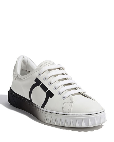Cube 8 Logo Leather Sneakers