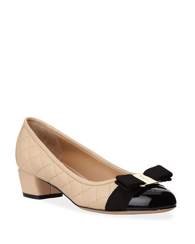 Vara Quilted Bow Pumps