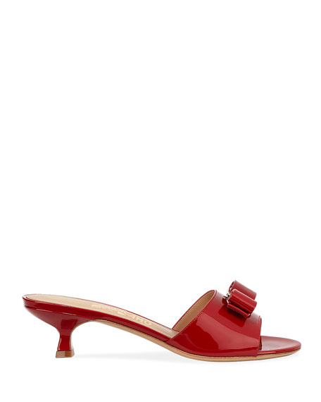 9b70bff5f61 Women's Ginostra Patent Leather Kitten-Heel Sandals in Red
