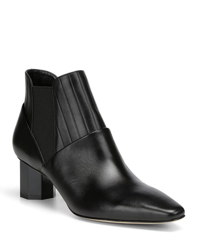 Fate Leather Gored Booties