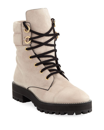 Lexy Suede Lace-Up Hiker Boots
