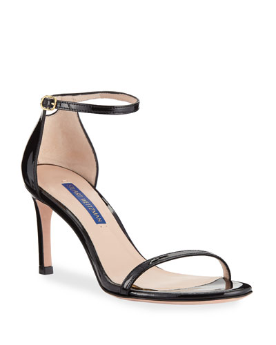5979ca91f51 Nudist 80 Patent Leather Naked Sandals