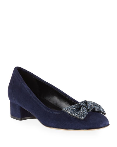 Haven Crystal Bow Pumps