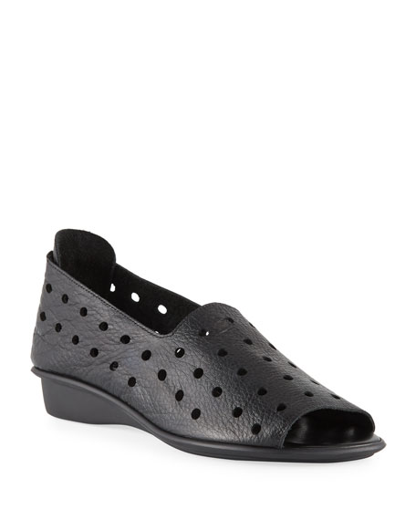 Sesto Meucci EDWINA PERFORATED LEATHER SLIP-ON FLATS