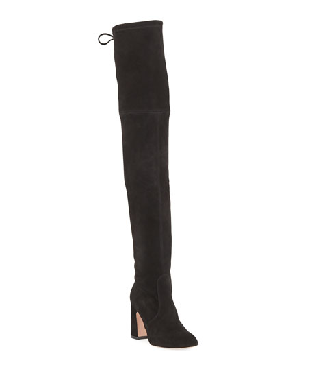 Kirstie Suede Over-The-Knee Boots