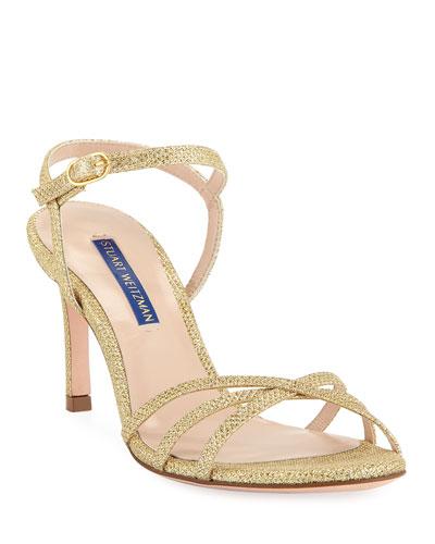 Starla Metallic Fabric Sandals