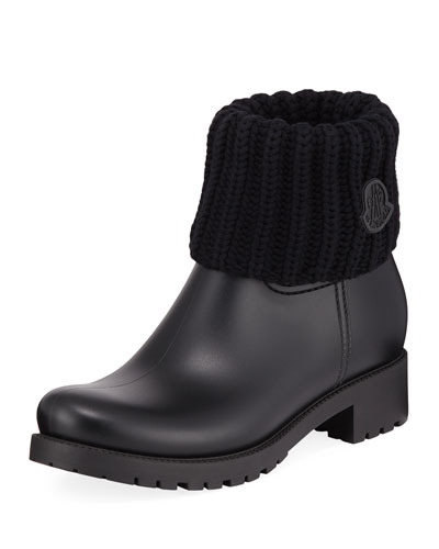 Ginette Rubber Boots with Knit Top