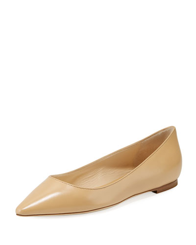 Romy Leather Skimmer Ballet Flats