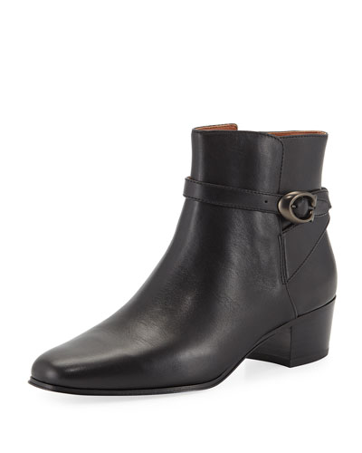 Chrystie Buckle Ankle Boots