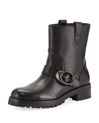 Leighton Buckle Moto Boots