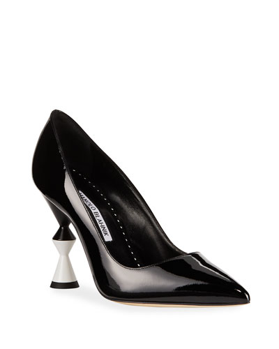 Rlily Patent Pointed Pumps