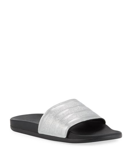 Adidas Adilette Glittered Comfort Slide Sandals