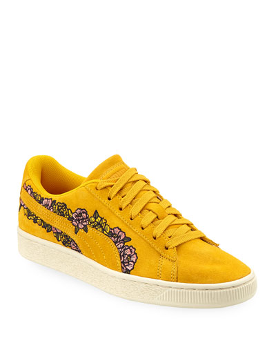 Basket Suede Embroidery Sneakers