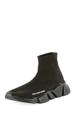 Balenciaga Speed Stretch-Knit High-Top Trainers