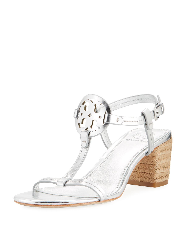 d1626b268 Tory Burch Miller Metallic Espadrille Sandals | Neiman Marcus