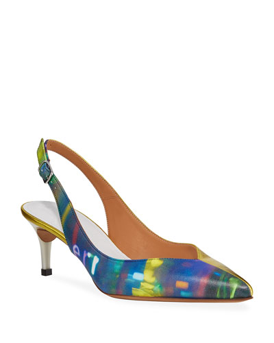 After Party Printed Pumps