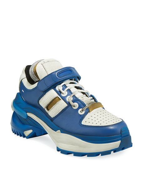Maison Margiela Deconstruct Leather Trainer Sneakers