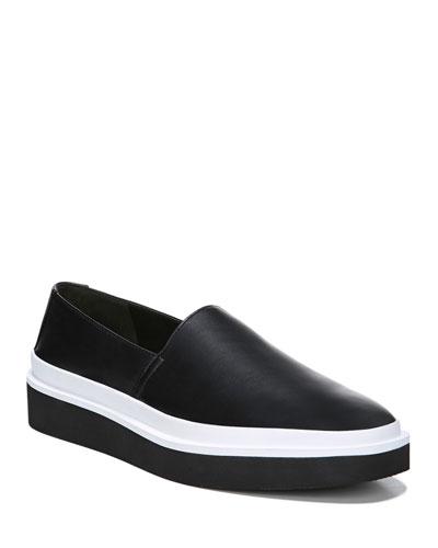 Travis Leather Platform Sneakers