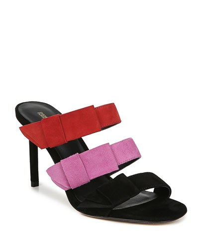 Amari Colorblock Suede Sandals