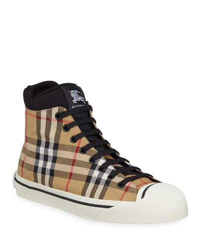 Kilbourne Check High-Top Sneakers