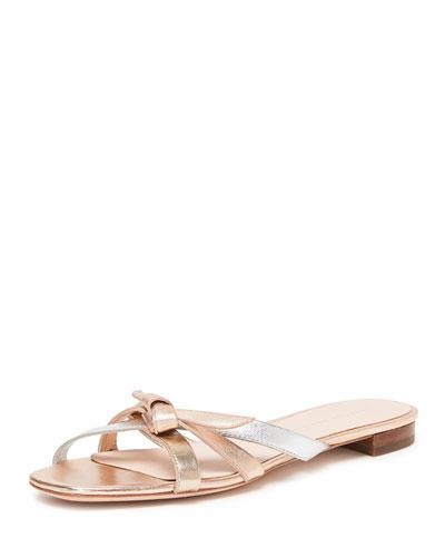 67bb52832d6 Loeffler Randall Eveline Delicate Strappy Flat Slide Sandals