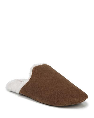 Cadie Suede Fur-Lined Slippers