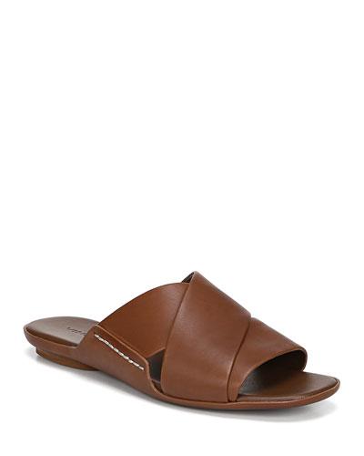 Tamara Flat Leather Slide Sandals