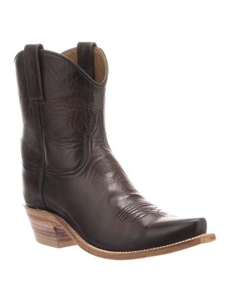 LUCCHESE Gaby Leather Western Boots in Chocolate