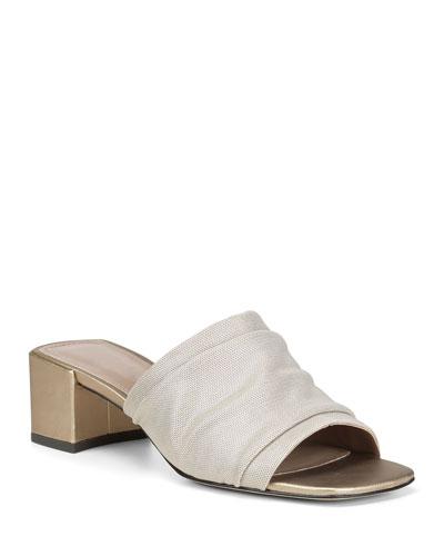 Brit Easy Metallic Mesh Slide Sandals