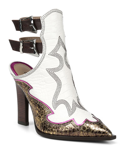 Giorgi Western Buckle Booties