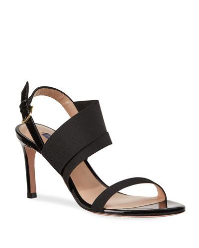 Adrienne Patent Stretch Sandals