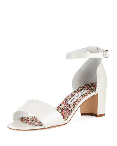 Lauratom Satin Block-Heel Sandals