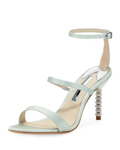Rosalind Mid-Heel Satin Sandals