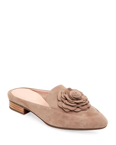 Blythe Floral Suede Mule Loafer