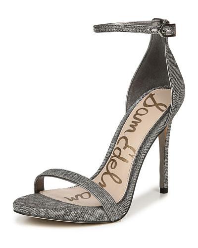 Ariella Leopard Glitz Mesh Sandals