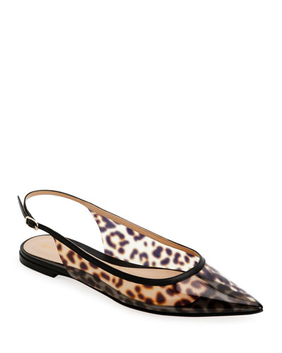 Leopard Slingback Pumps