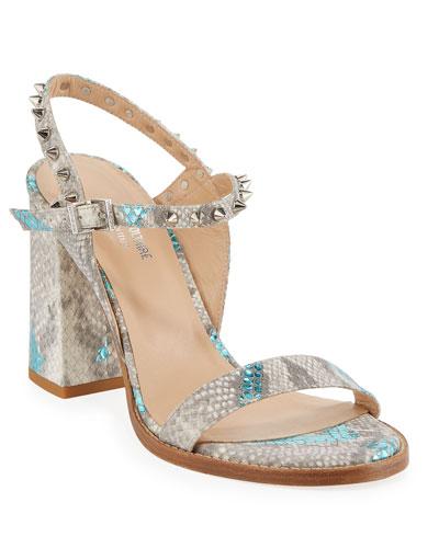 Vogue Wild Snake-Embossed Sandals