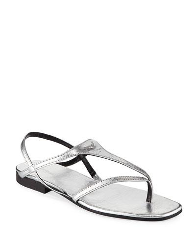 Dillon Metallic Leather Sandals