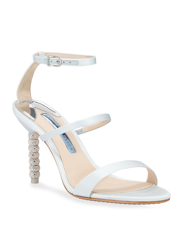 b8e55da6e Sophia Webster Rosalind Mid-Heel Satin Crystal Bridal Sandals ...