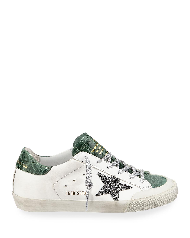 Superstar Crystal Crocodile Low Top Sneakers