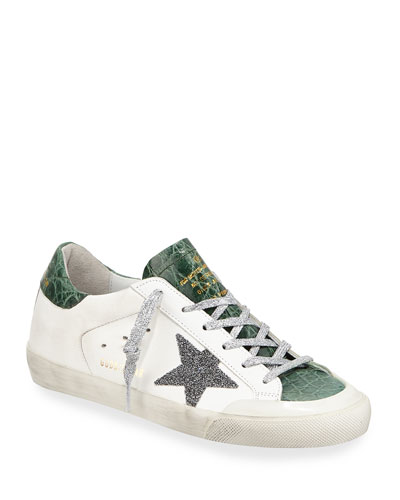 Superstar Crystal Crocodile Low-Top Sneakers