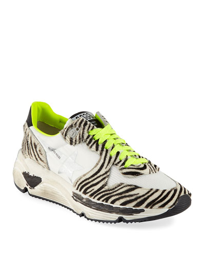 Zebra-Print Running Sneakers