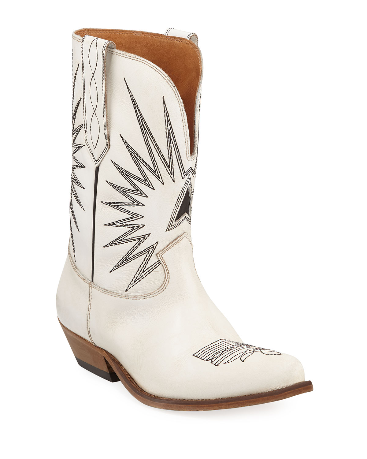 Golden Goose Wish Star Leather Western Boots  b84186a4115