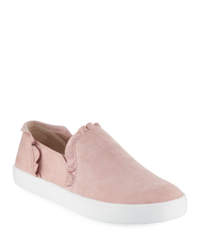 Lilly Ruffle Suede Sneakers